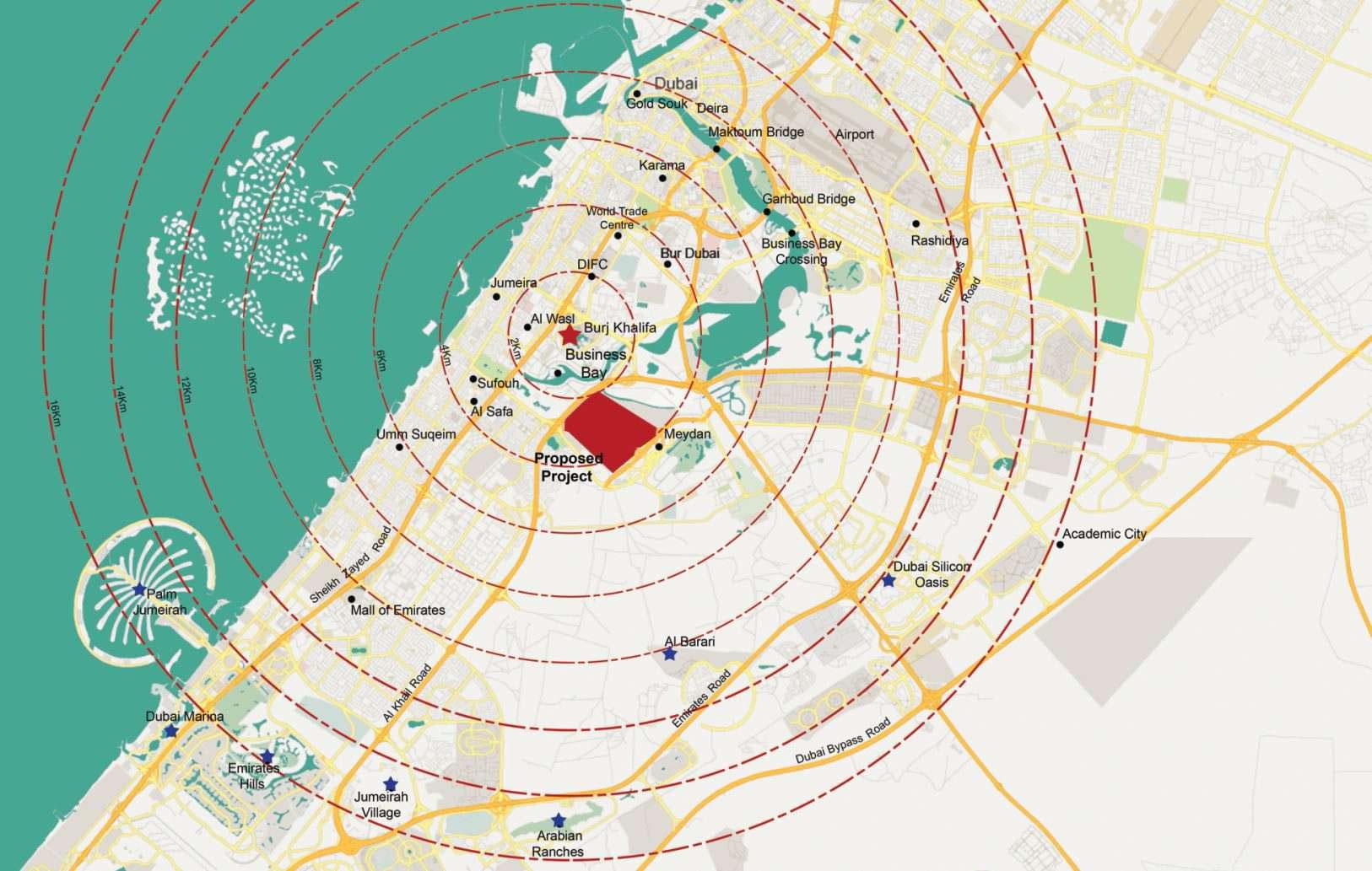 Meydan-Sobha Location Map