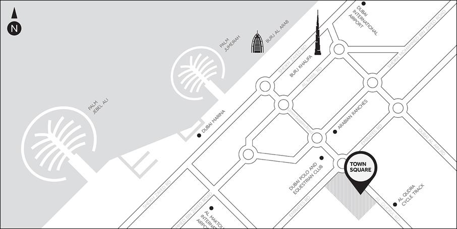 Sama-Townhouses Location Map