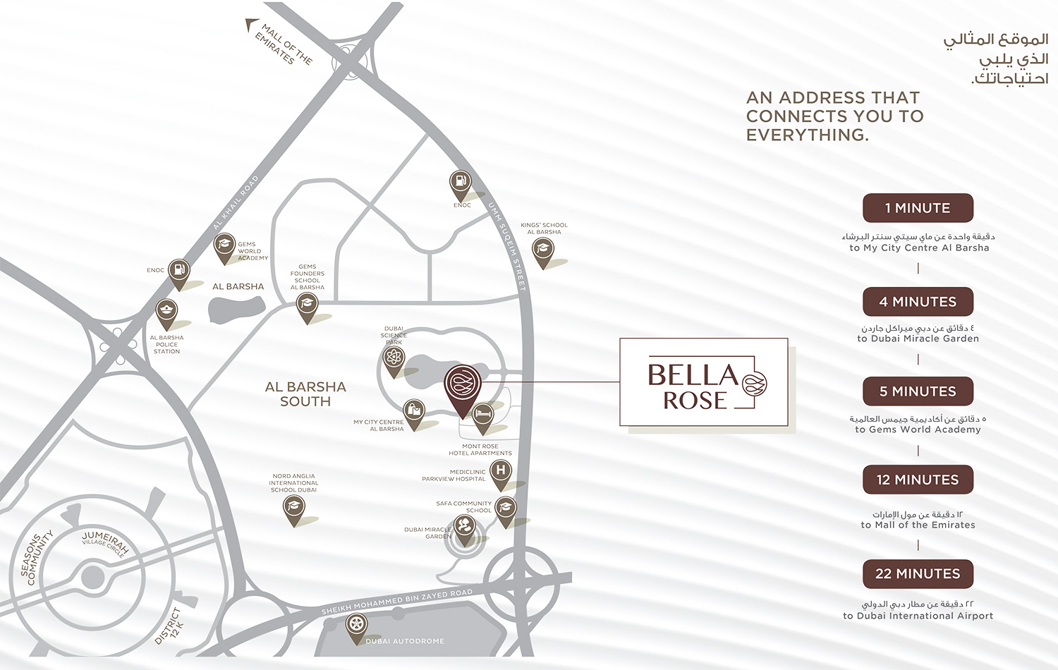 Bella-Rose Location Map
