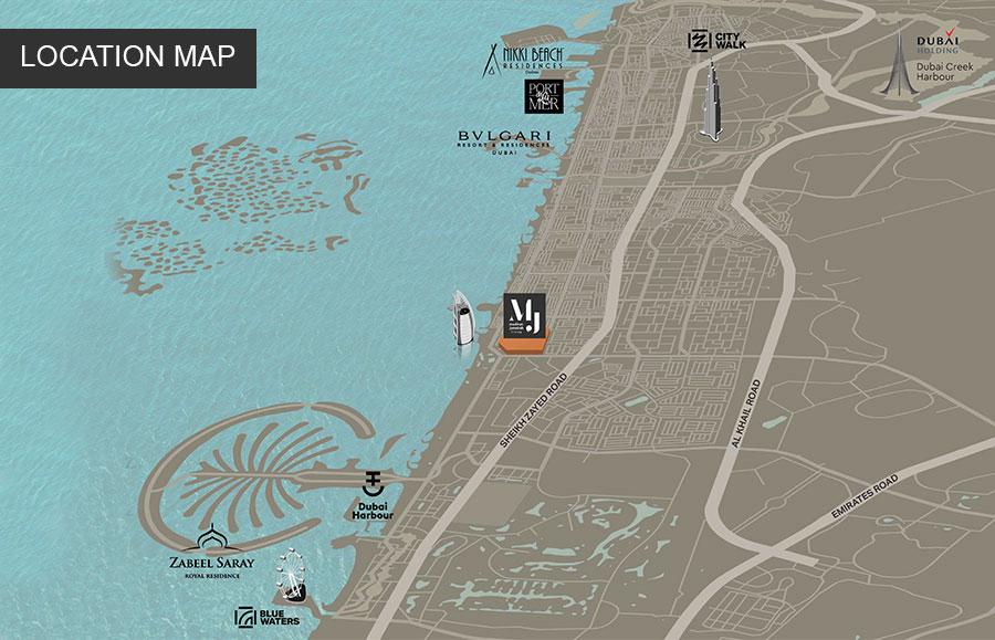 Madinat-Jumeirah-Living Location Map