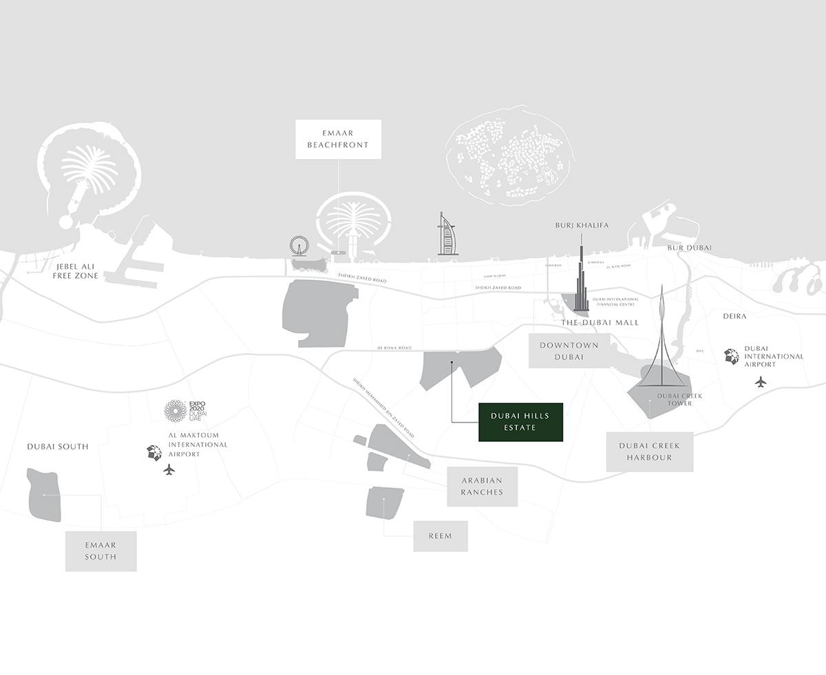 Golf-Suites-Apartments Location Map