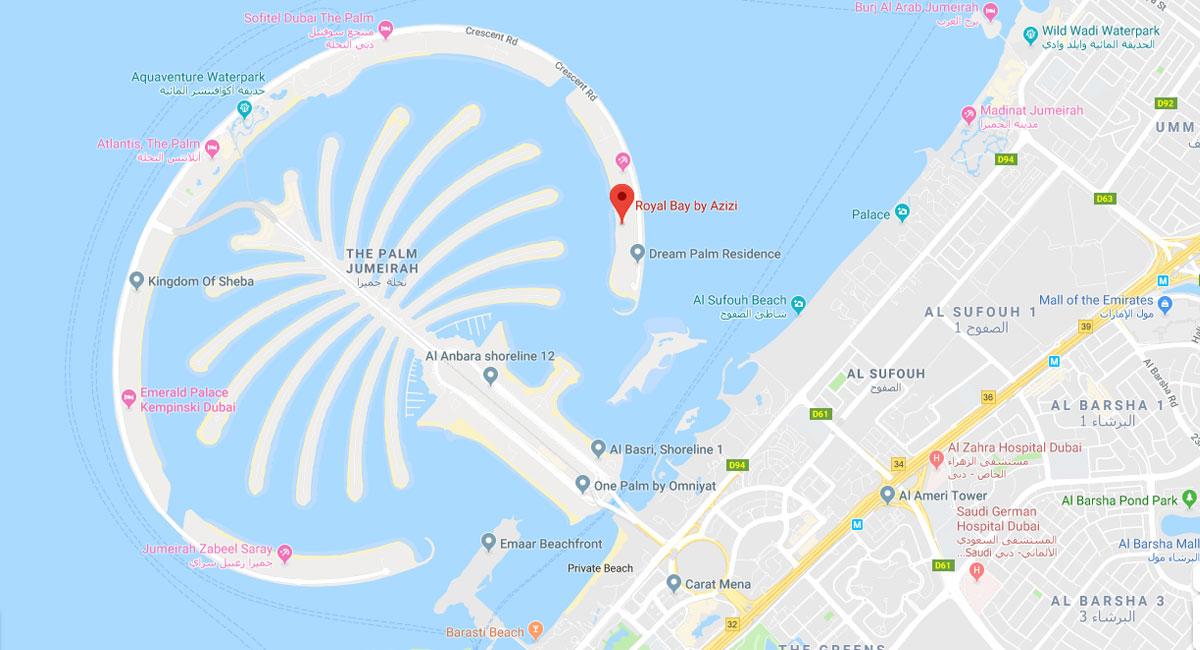 Royal Bay Residence -  Location Plan