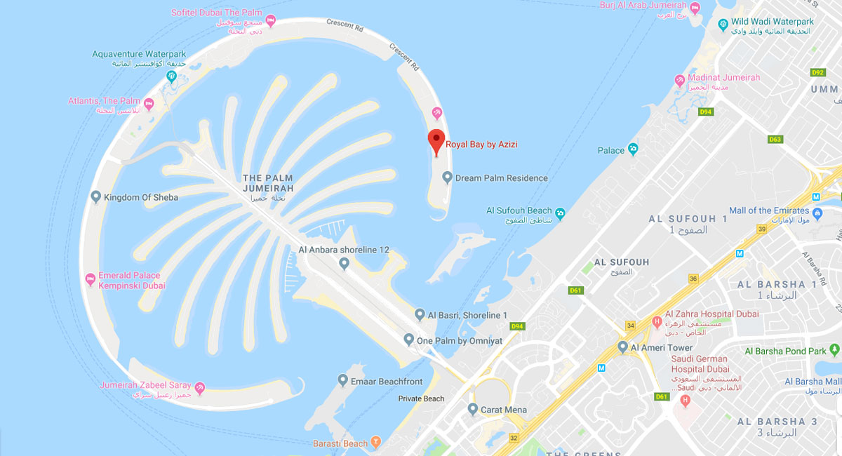 Royal-Bay-Residence Location Map