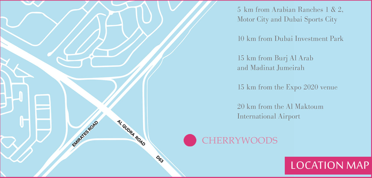 Cherrywoods-Townhouses Location Map