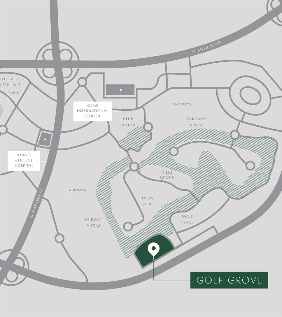 Golf-Grove-Villas Location Map