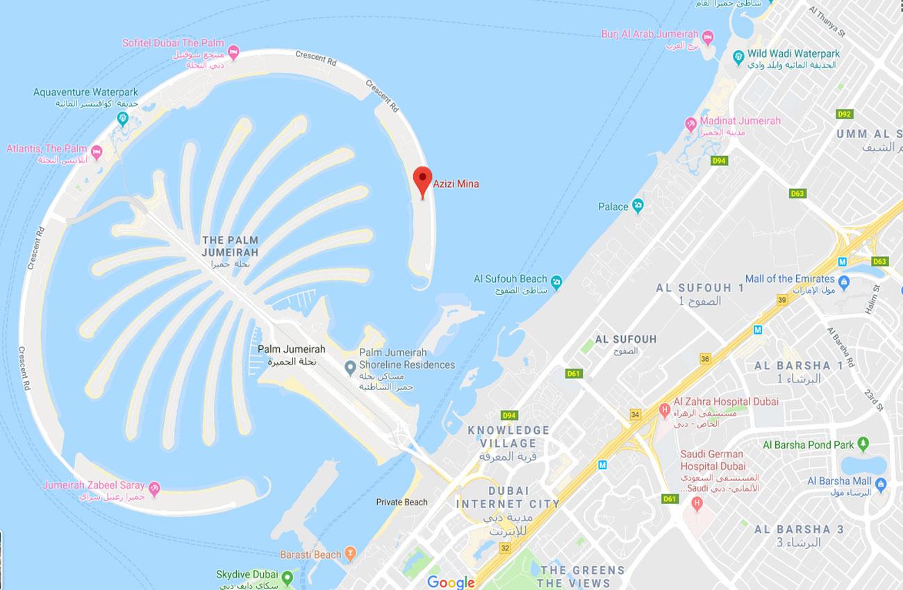 Azizi Mina -  Location Plan