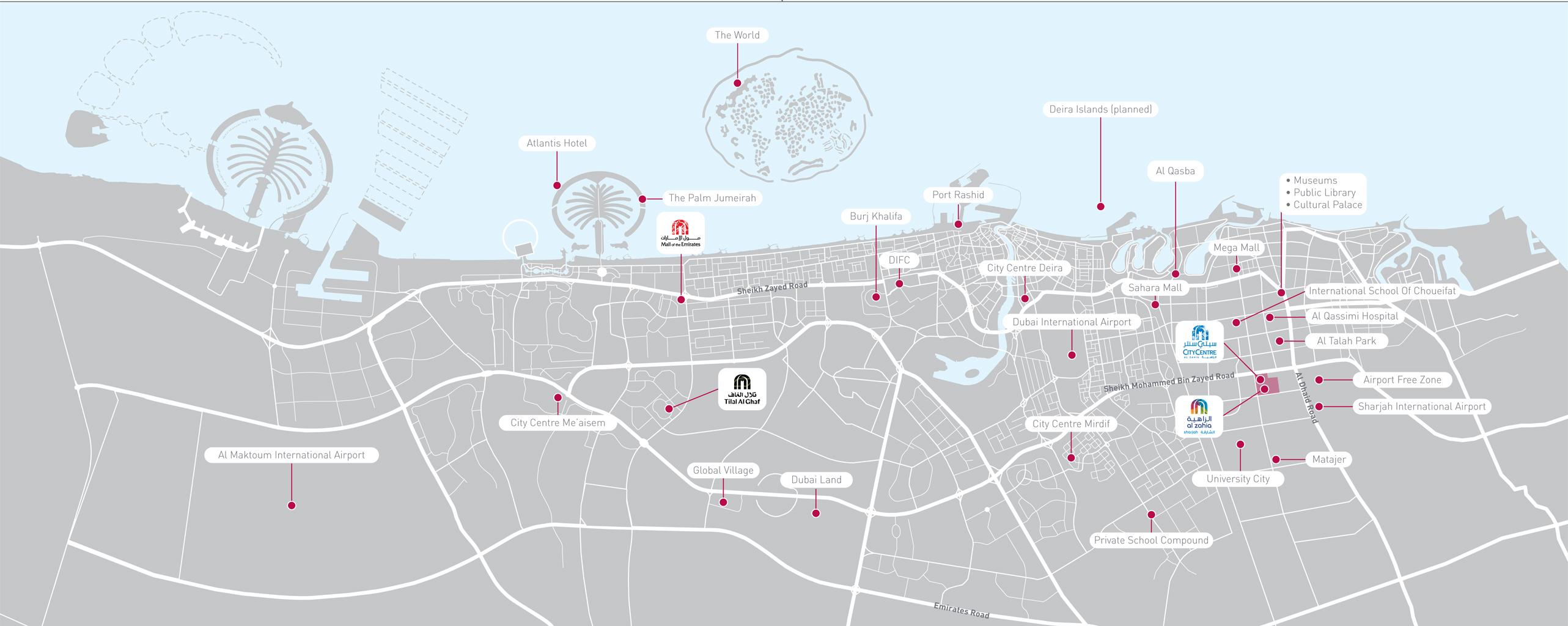 Al Yasmeen Al Zahia Sharjah -  Location Plan