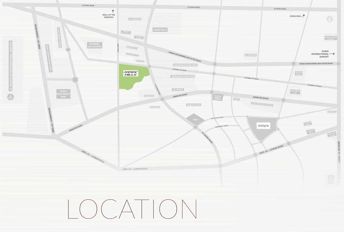 Kiara Apartments -  Location Plan