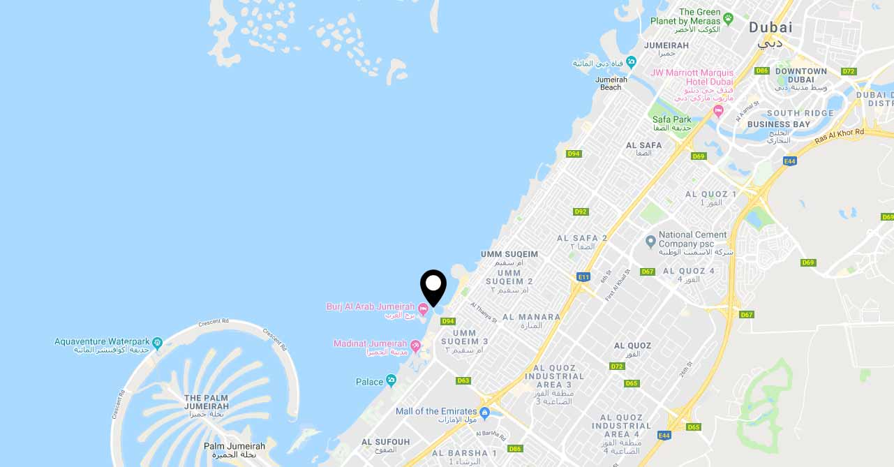 Meraas Exclusive 9 Mansions -  Location Plan