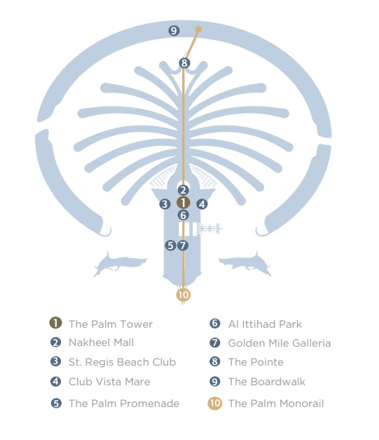 The Palm Tower -  Location Plan