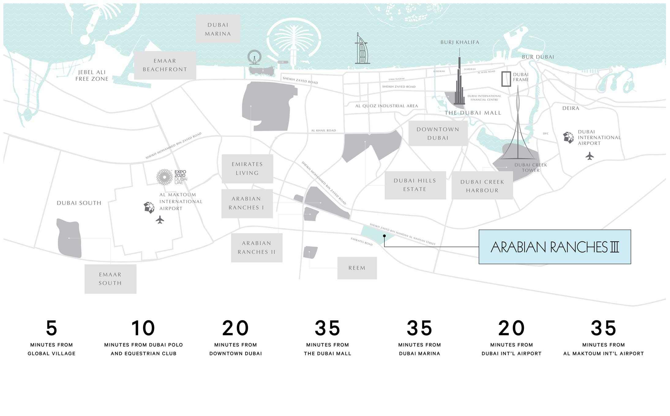 Emaar-Sun-Townhouses-Phase-2 Location Map
