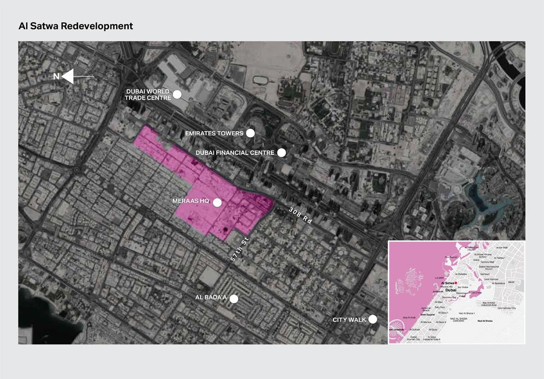 Al-Satwa Location Map
