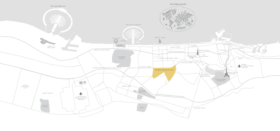 Golf-Majestic-By-Emaar Location Map