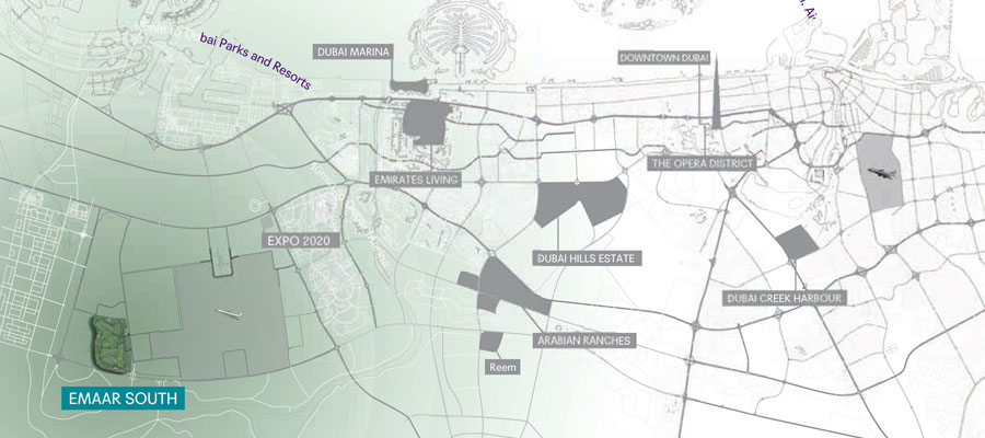 Emaar-Expo-Golf-Apartments Location Map