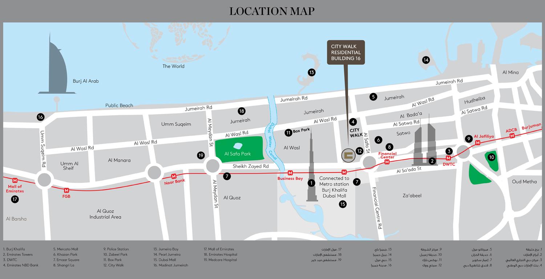 City Walk Apartments Building 16 -  Location Plan