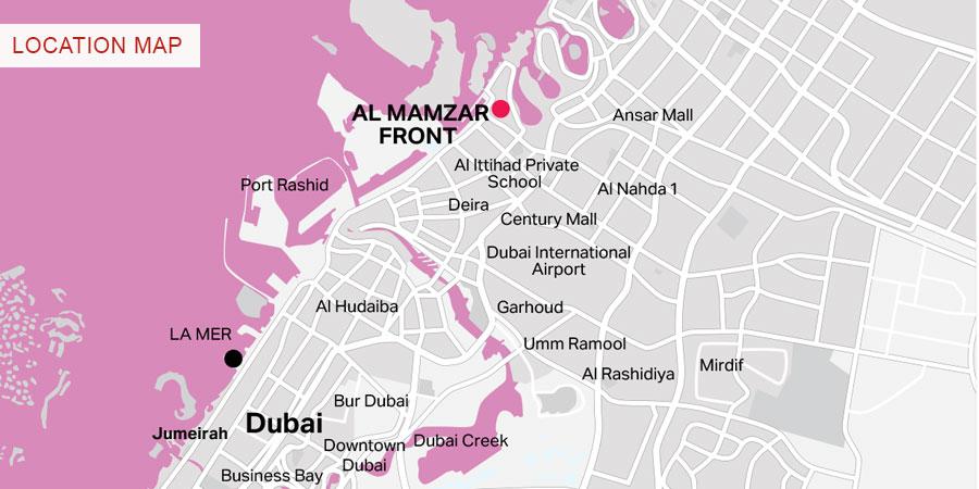 Al-Mamzar-District Location Map