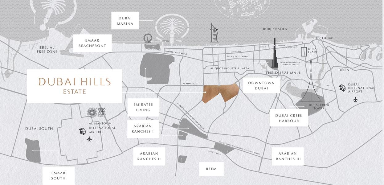 Emaar Majestic Vistas -  Location Plan