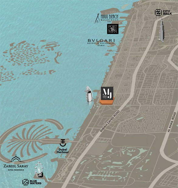 Asayel-Apartments-at-MJL Location Map