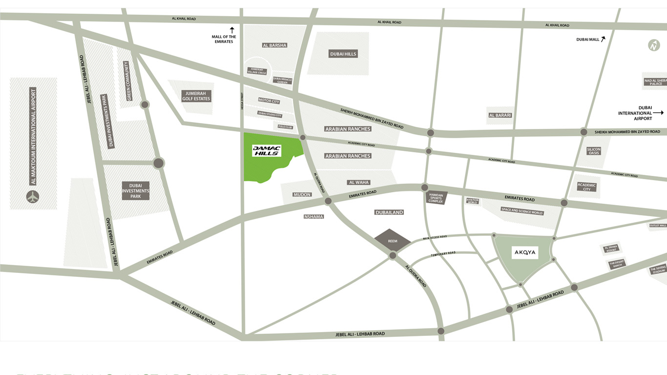 Damac-Bellavista-Apartments Location Map