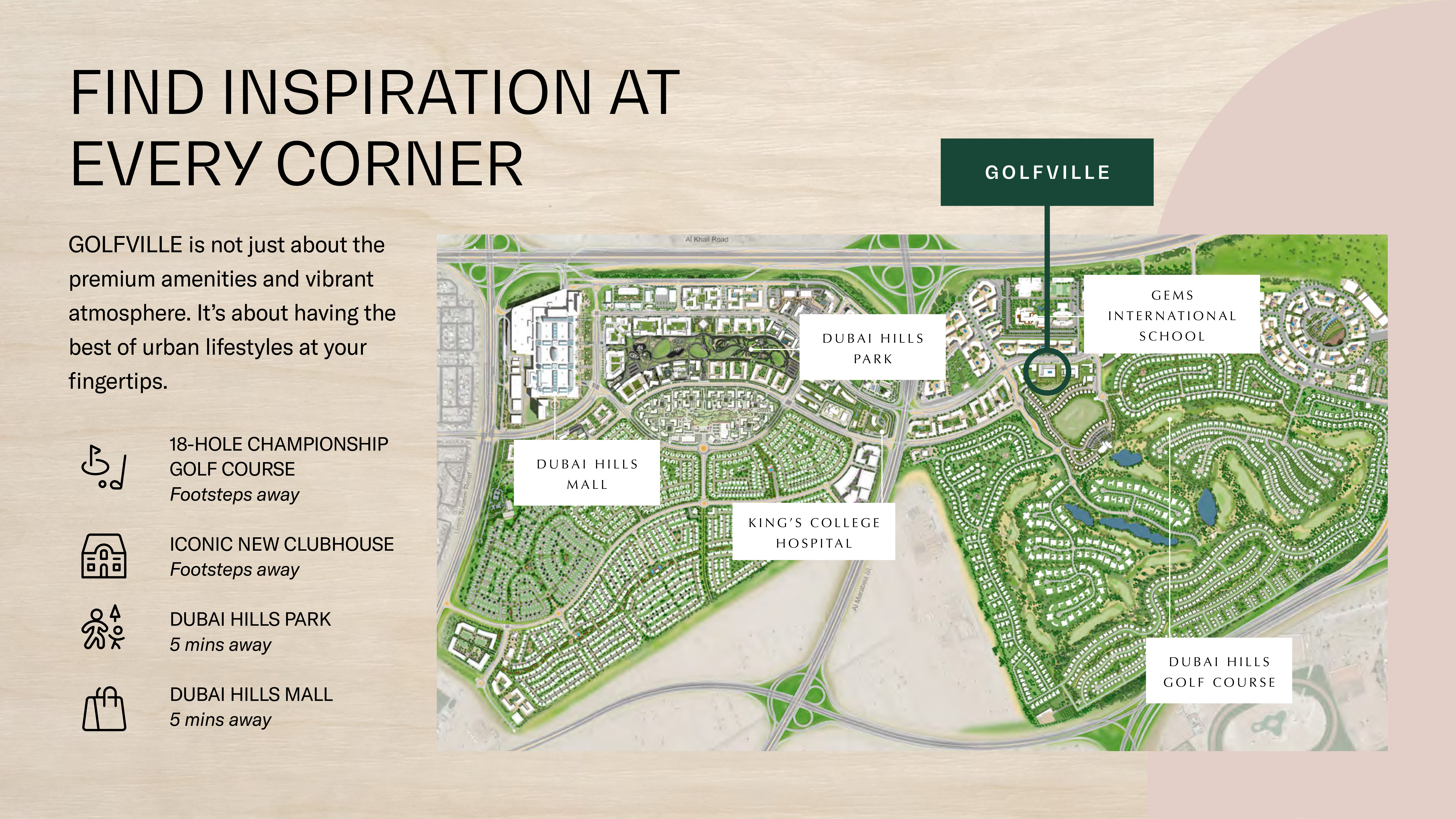 Emaar-Golfville-Apartments Location Map