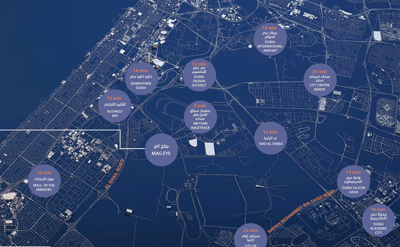 MAG Eye at Meydan Dubai -  Location Plan