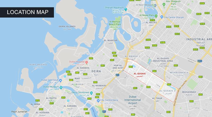 Al Qusais Residences -  Location Plan