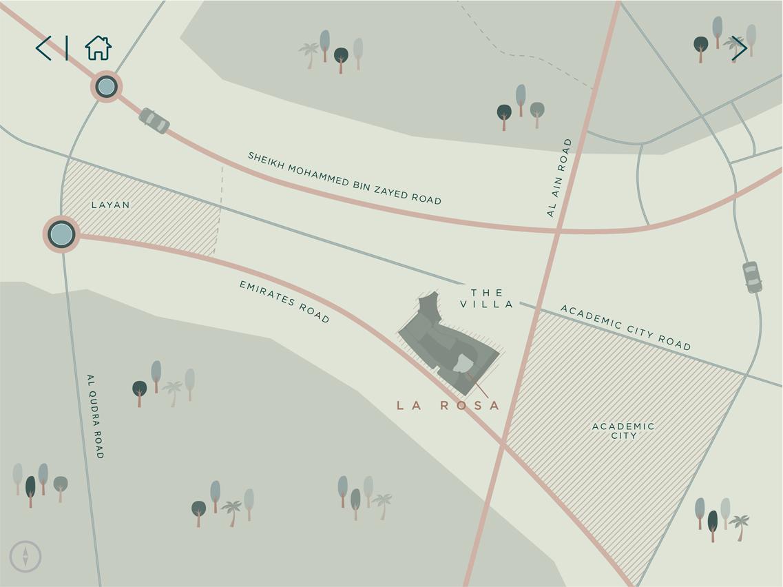 La-Rosa-at-Villanova Location Map