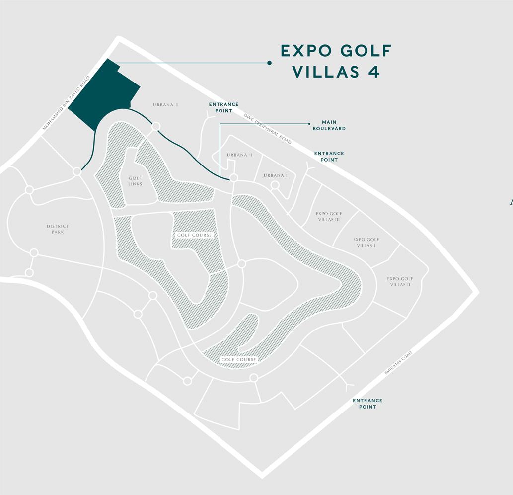 Emaar-Greenview-Villas Location Map