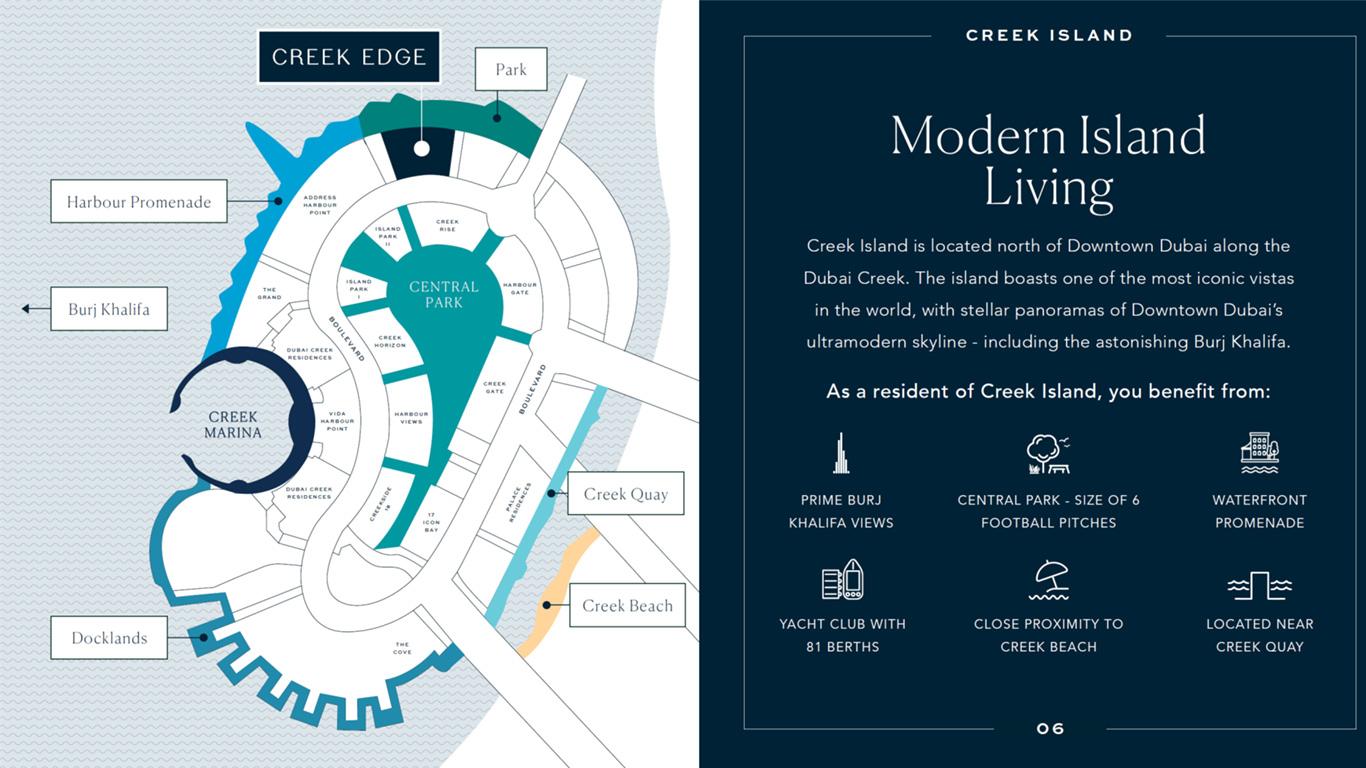 Emaar Creek Edge -  Location Plan