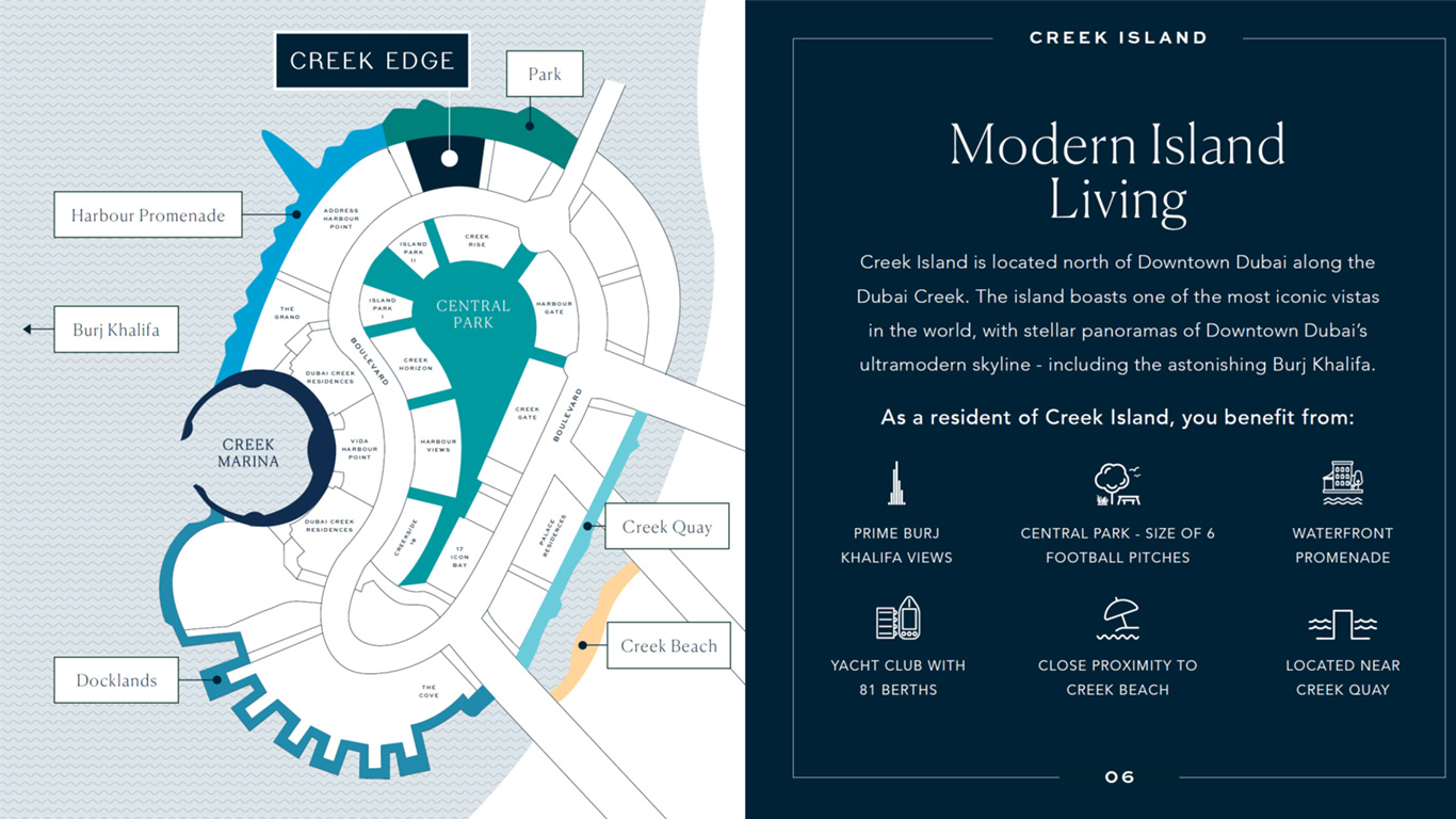 Emaar-Creek-Edge Location Map