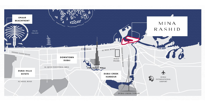 Emaar-Sirdhana-at-Mina-Rashid Location Map