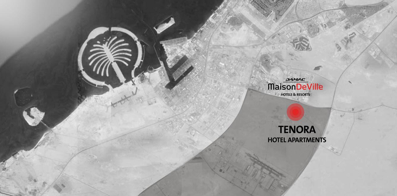 Damac-Tenora-Apartments Location Map