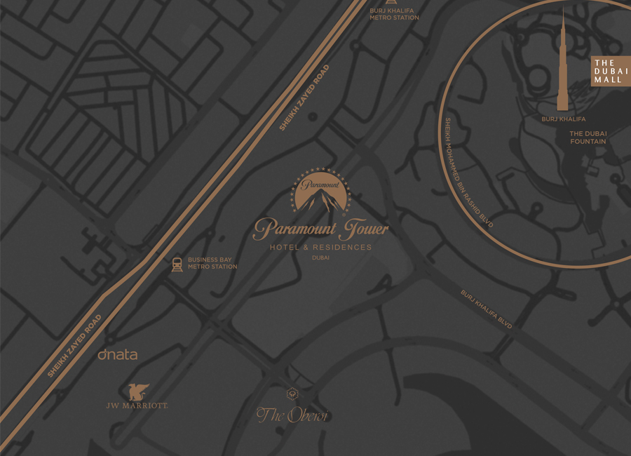 Damac-Hollywood-Glamour Location Map