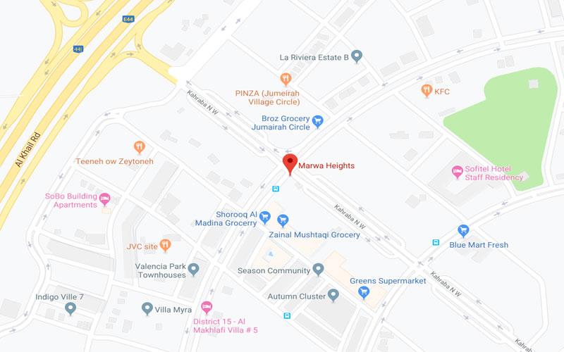 Marwa Heights -  Location Plan