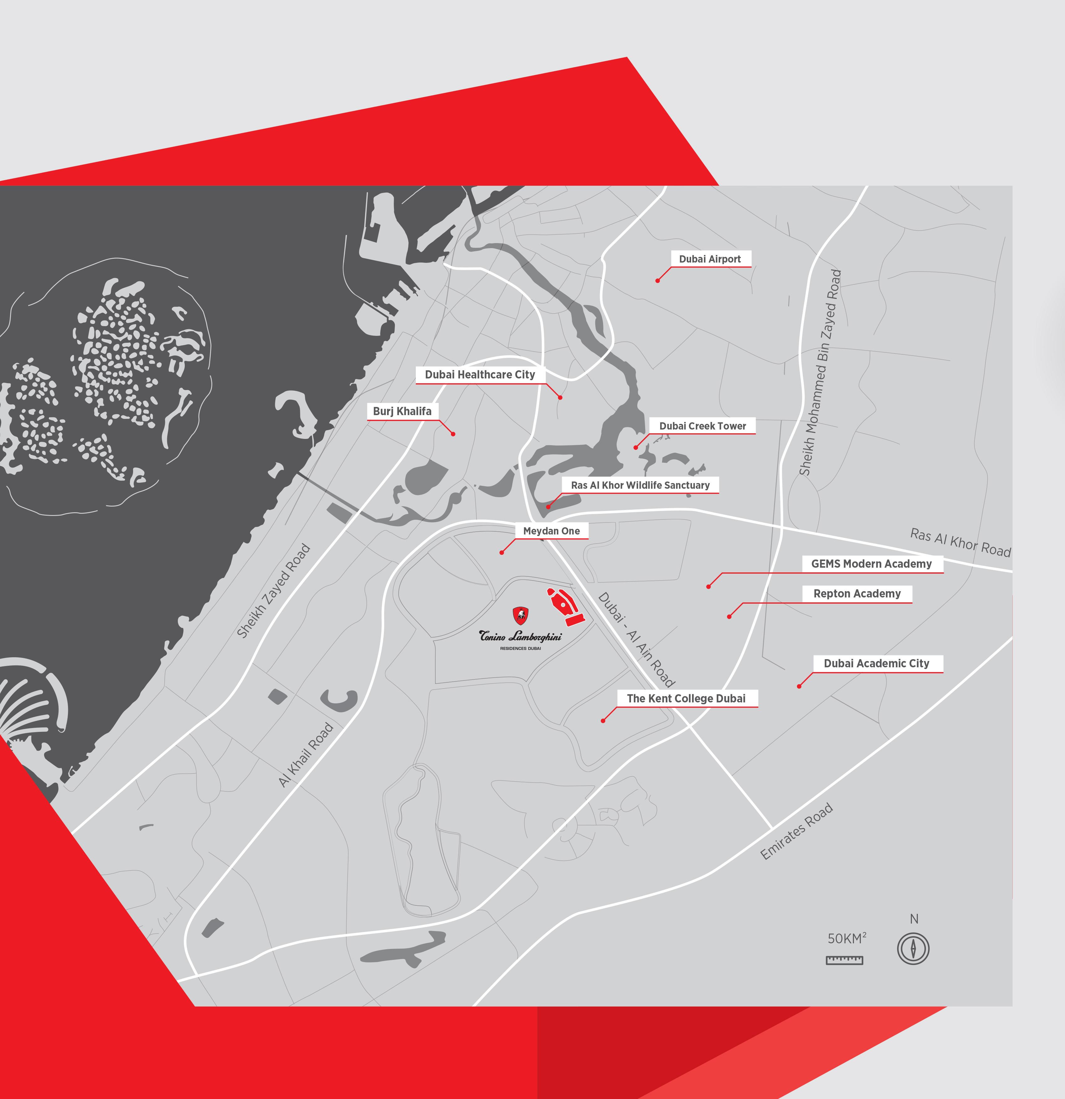 Tonino Lamborghini Residences -  Location Plan