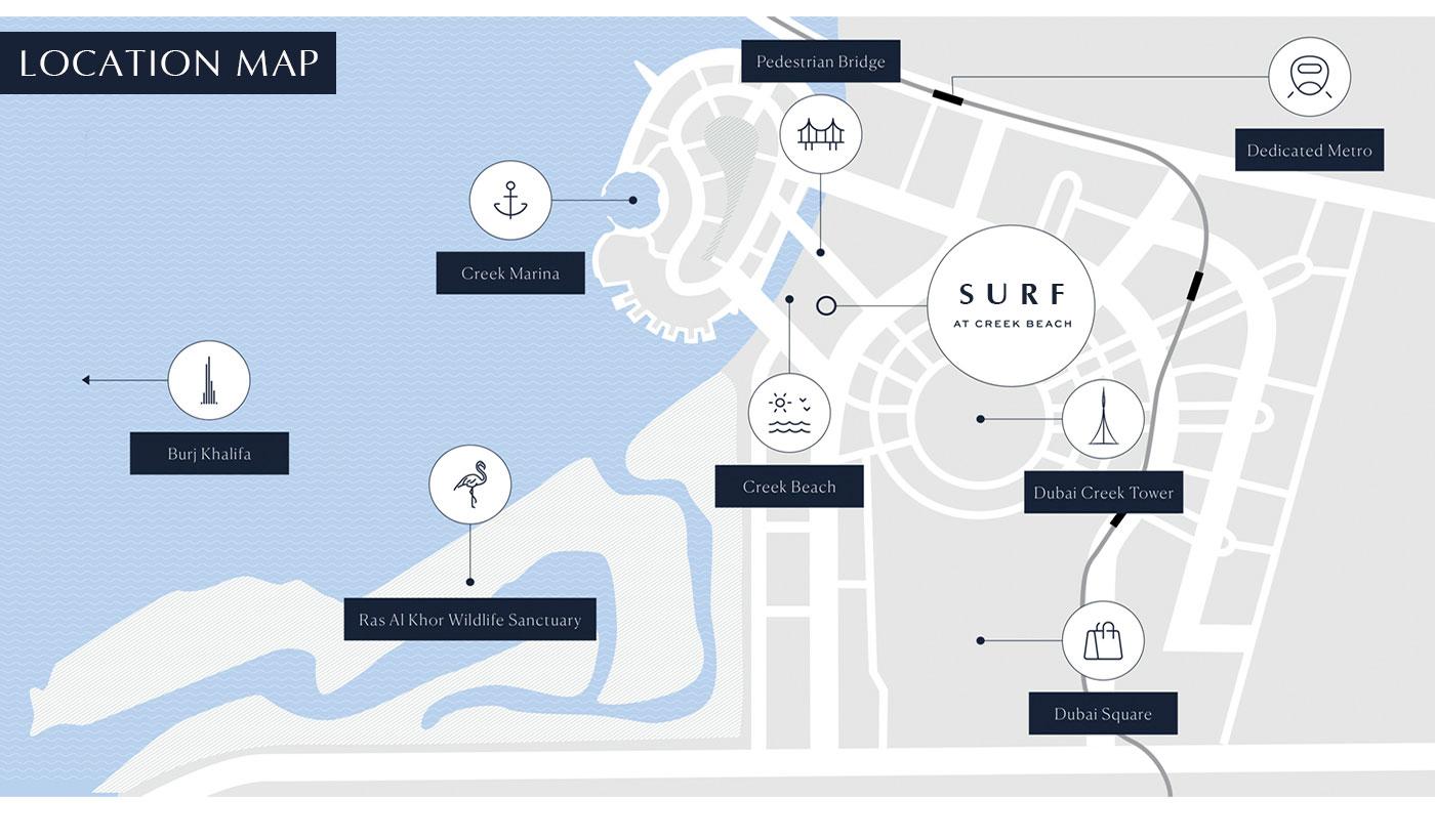 Surf-at-Creek-Beach Location Map