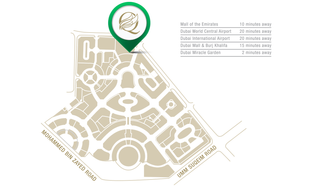 Q-Gardens-Boutique-Residences Location Map