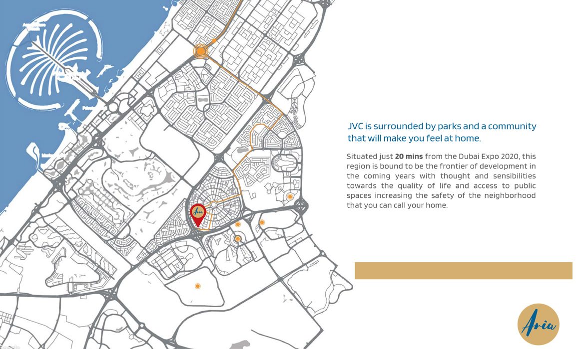 Aria-Apartments Location Map