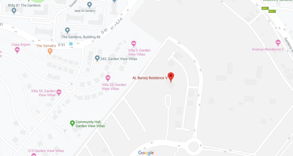 Al-Burooj-Residence-5 Location Map