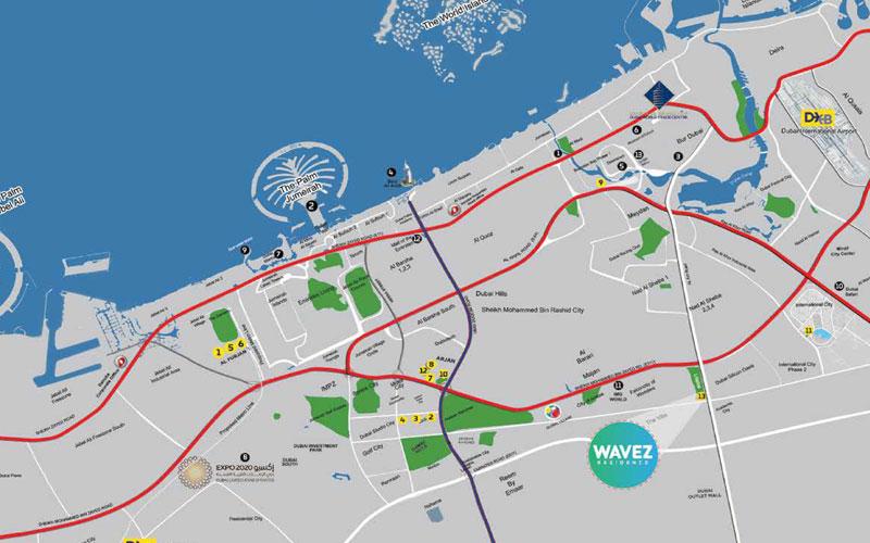 Wavez-Residence Location Map