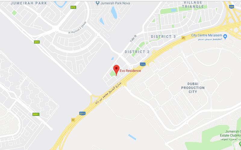 Evo-Residence Location Map