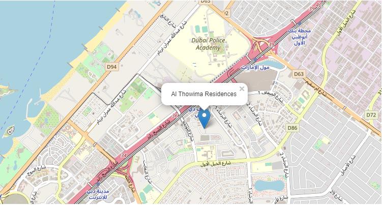 Al-Thowima-Residences Location Map