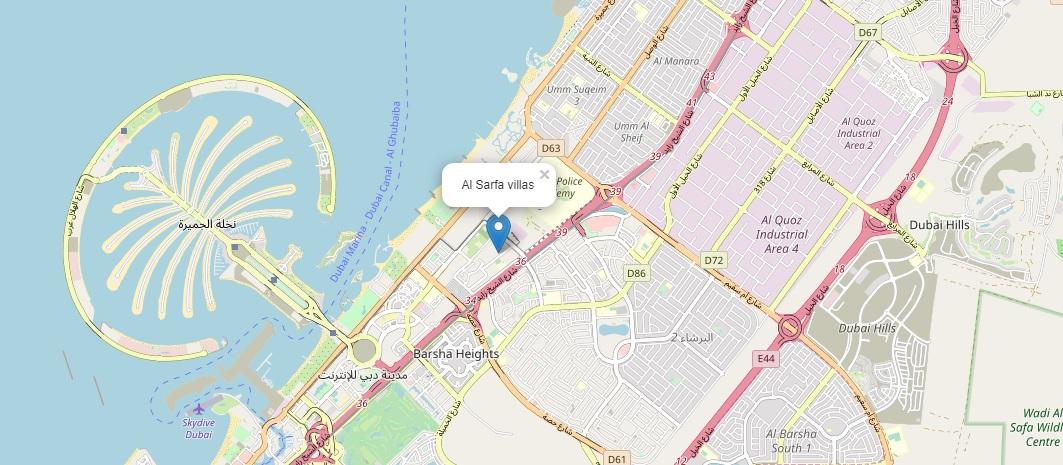 Al-Sarfa-Villas Location Map
