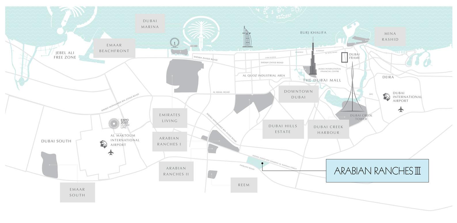 Ruba-Townhouses Location Map