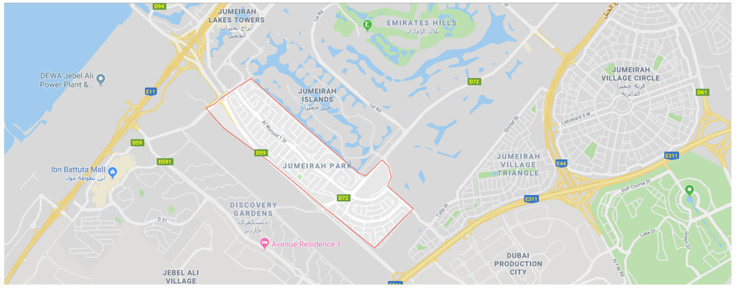 Heritage Jumeirah Park Villas -  Location Plan