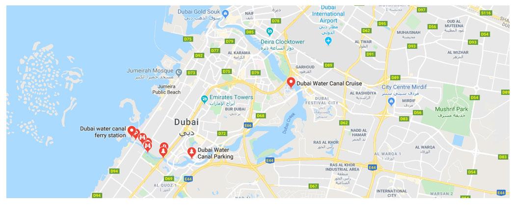 Dubai-Water-Canal-Plots Location Map