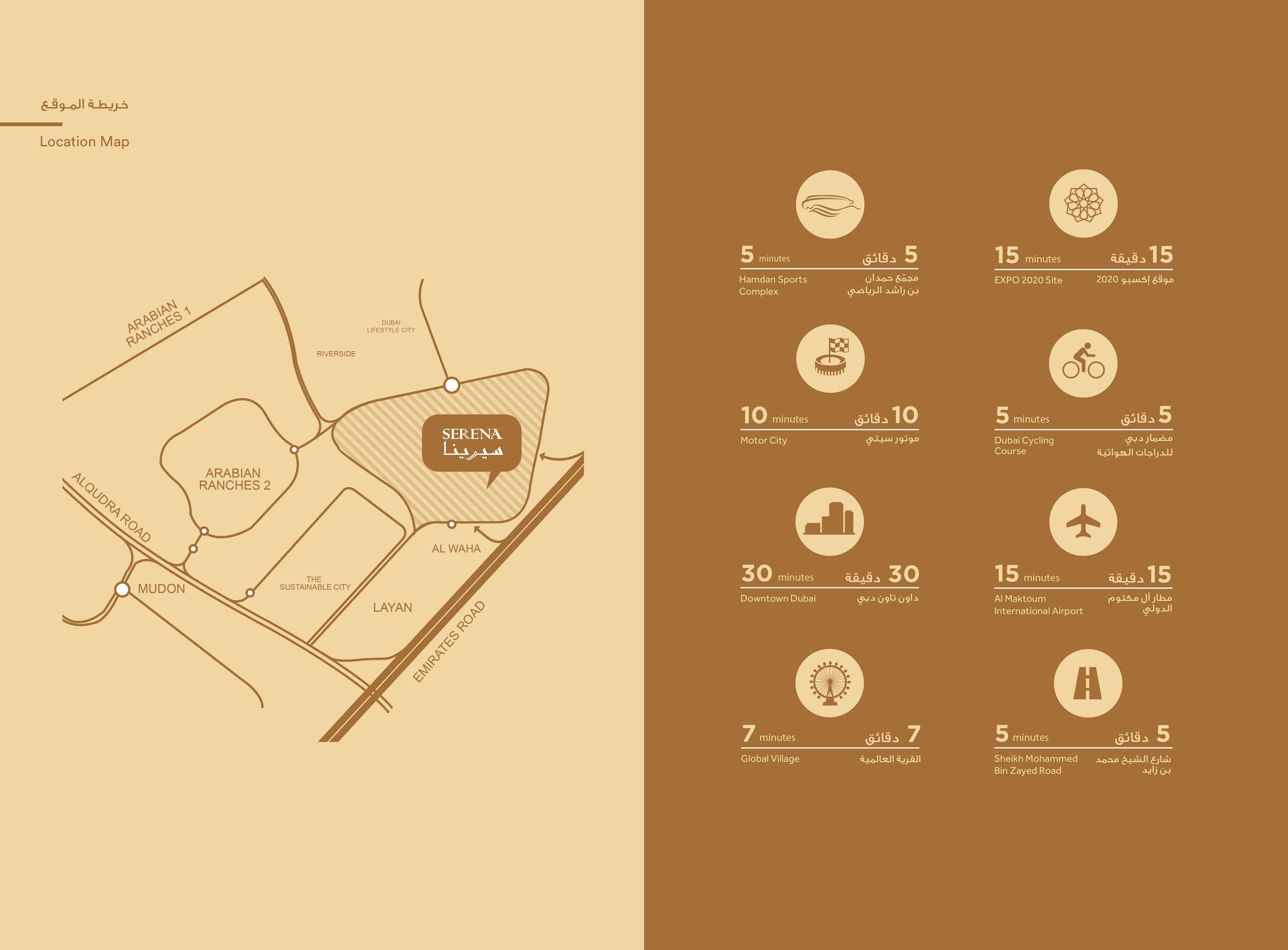 Serena Bella Casa -  Location Plan