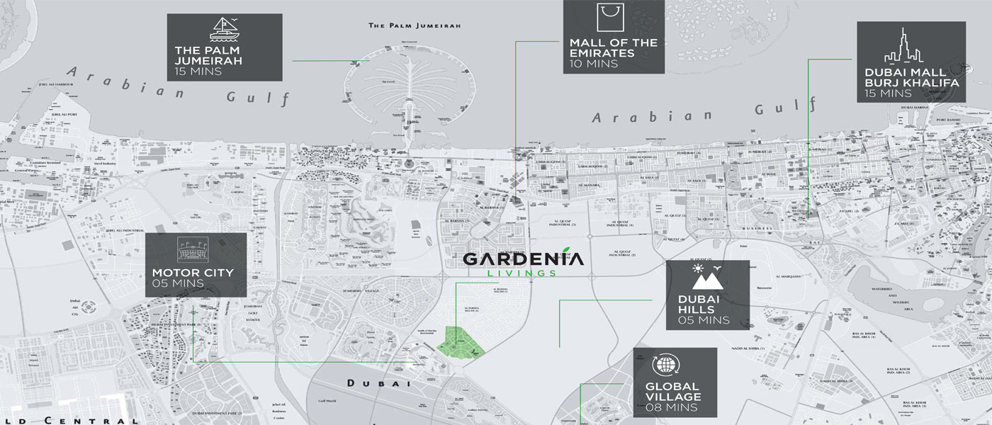 Gardenia-Livings Location Map