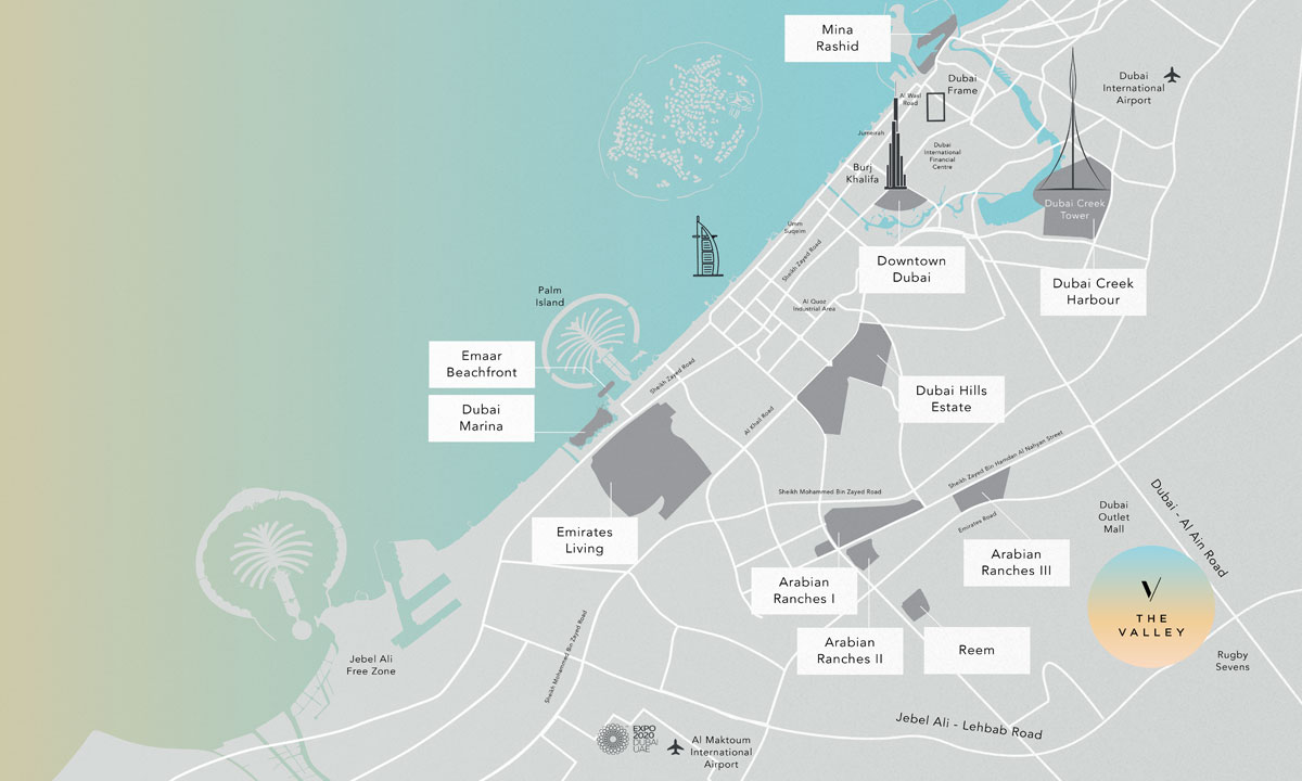 The-Valley-by-Emaar Location Map