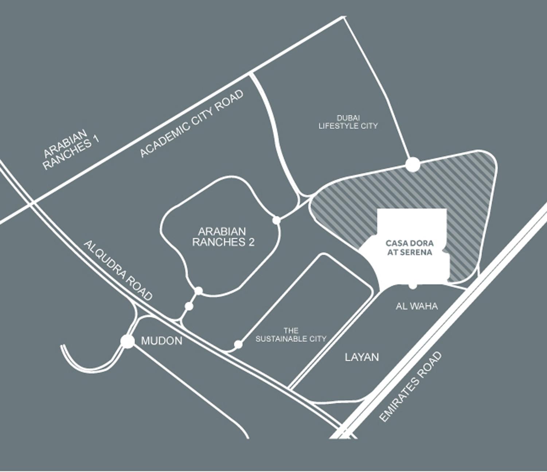 Casa Dora at Serena -  Location Plan